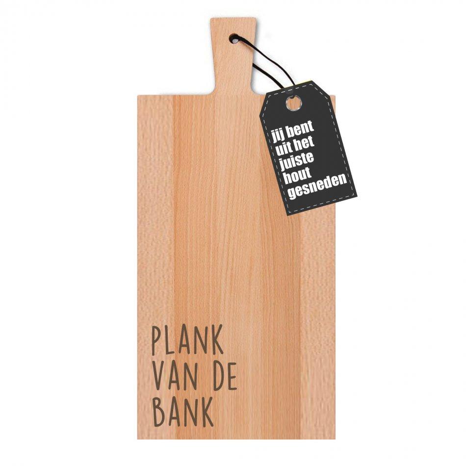 Plank van de bank