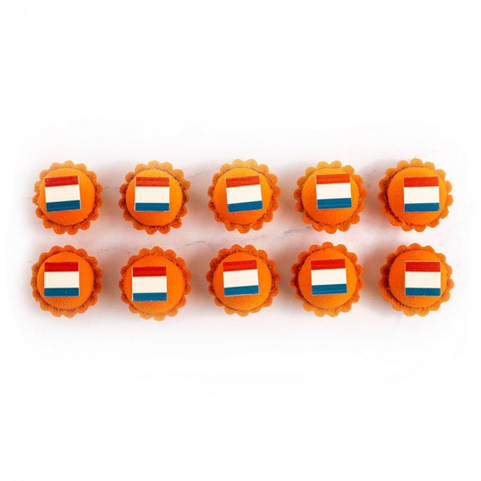 Luxe Oranje Petit Fours (10 stuks)